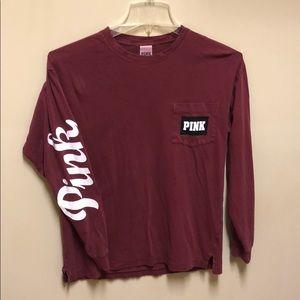 PINK Long sleeve soft T-shirt